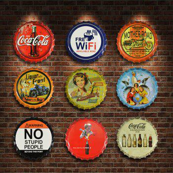 Vintage Industrial Style Beer Bottle Cover for Cafe Bar Restaurant Wall Decor - SUN YELLOW