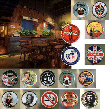 Vintage Industrial Style Beer Bottle Cover for Cafe Bar Restaurant Wall Decor - NIGHT