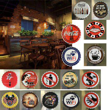 Vintage Style Beer Bottle Cover for Cafe Bar Restaurant Wall Decor Metal Art Poster - BLACK EEL