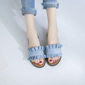 Summer New Flat Outside Wear Comfortable Non-slip Cool Slippers - OCEAN BLUE 37