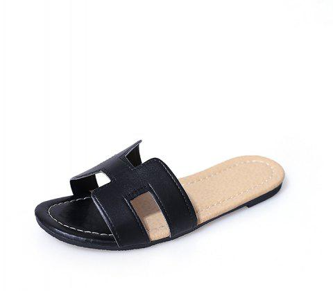 31d99e55f 2019 A Word All-match Fashion Slippers In BLACK 39