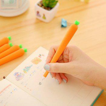 3PCS Cute Silicone Carrot Gel Pen Writing Signing Pen School Office Supply Student Stationery Kids Gift - ORANGE 15.2CM