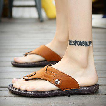 Men Sandals Hiking Summer Leisure Casual Soft Sport Beach Slippers Fashion Shoes - CAMEL BROWN 46