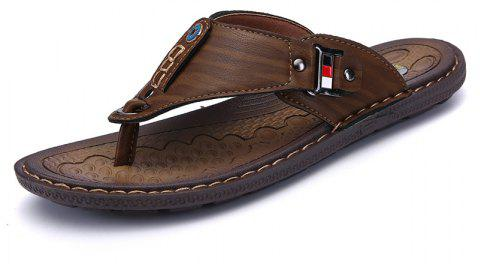 763d552dc377 Men Sandals Hiking Summer Fashion Leisure Casual Soft Sport Beach Slippers  Shoes - CAMEL BROWN 44