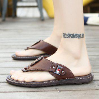 Men Sandals Hiking Summer Fashion Leisure Casual Soft Sport Beach Slippers Shoes - TAUPE 46