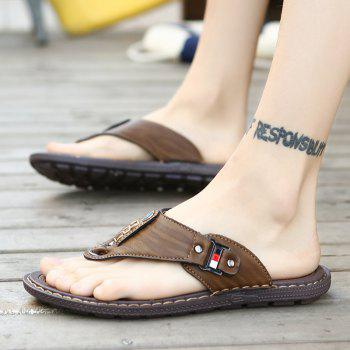 Men Sandals Hiking Summer Fashion Leisure Casual Soft Sport Beach Slippers Shoes - CAMEL BROWN 46