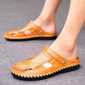 Men Sandals Hiking Fashion Summer  Leisure Casual Soft Sport Beach Slippers Shoes - CAMEL BROWN 43