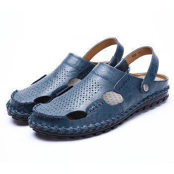 Men Sandals Hiking Fashion Summer  Leisure Casual Soft Sport Beach Slippers Shoes - ROYAL BLUE 43