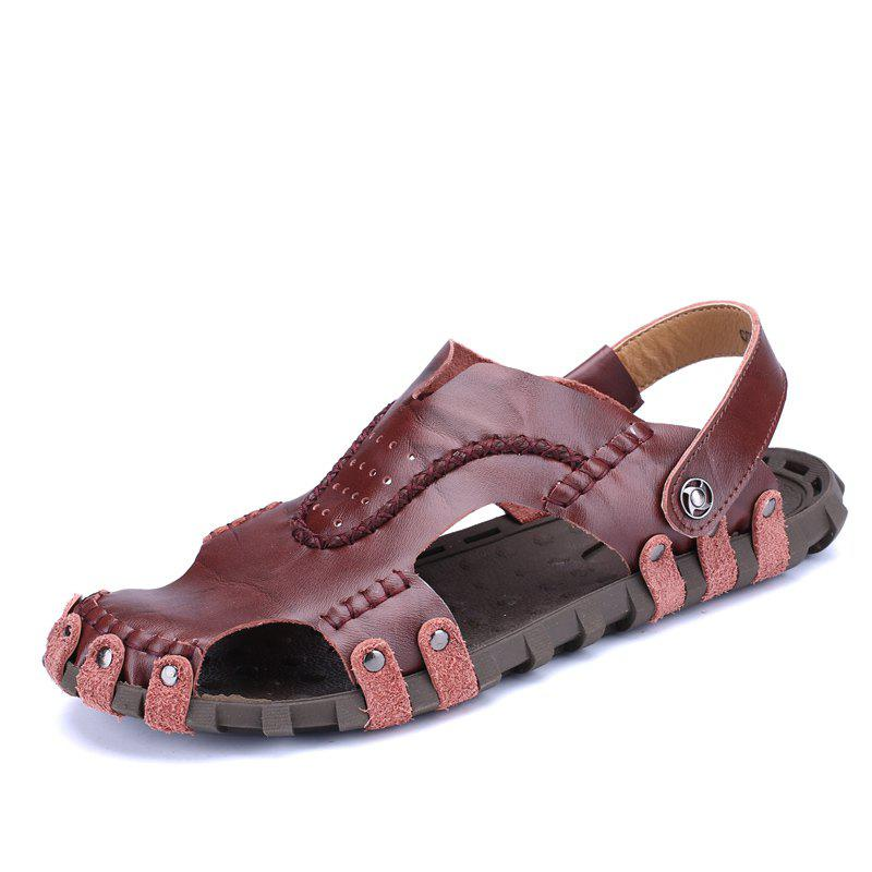 Men Sandals Hiking Fashion Summer Leisure Casual Soft Sport Slippers Beach Shoes - PUCE 43