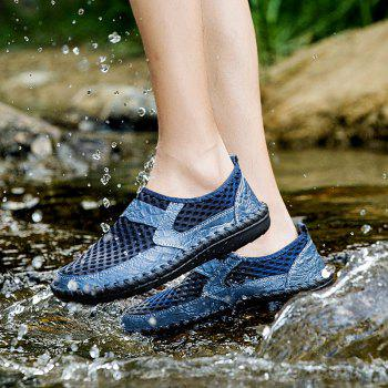 Men Sandals Fashion Summer Leisure Hiking Casual Soft Sport Slippers Beach Shoes - SAPPHIRE BLUE 38