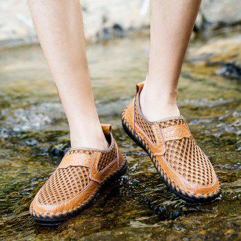 Men Sandals Fashion Summer Leisure Hiking Casual Soft Sport Slippers Beach Shoes - CAMEL BROWN 38