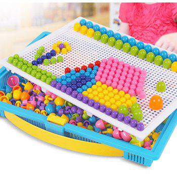 295 Creative Nail Mushrooms Inserting Plate Combined Children Puzzle Toys - multicolor
