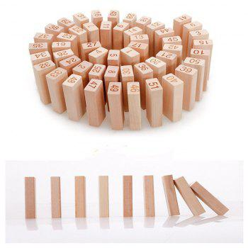 Highquality Wooden Tower 51   Building Blocks Domino Game Toys Interesting Children Gifts - BEIGE