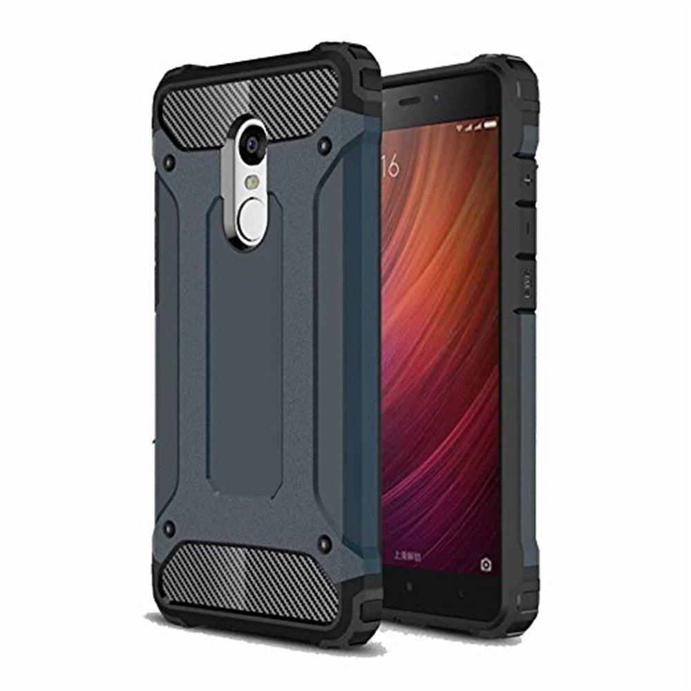 Hybrid Tough Shockproof Armor Hard Phone Cases for Xiaomi Redmi Note 4 / 4X Case - SLATE BLUE