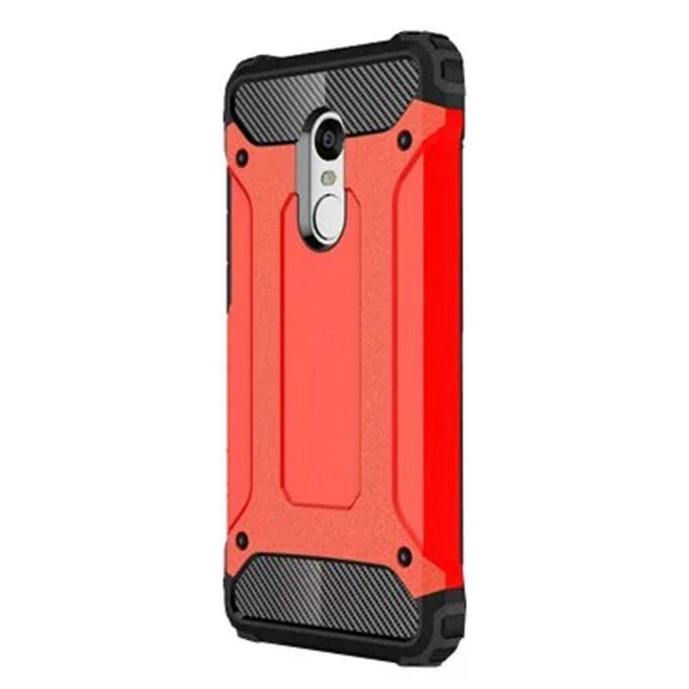 Hybrid Tough Shockproof Armor Hard Phone Cases for Xiaomi Redmi Note 4 / 4X Case - RUBY RED