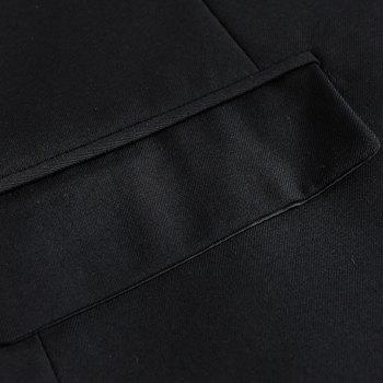 Men's New Fashion and Leisure Long Sleeved Suit - BLACK M