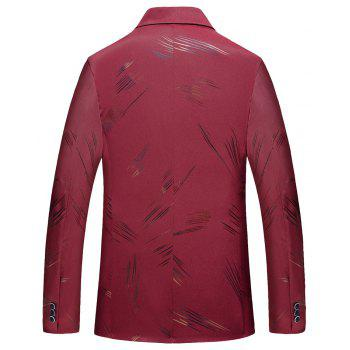 Men's Casual Long Sleeved Suit Coat - RED 2XL