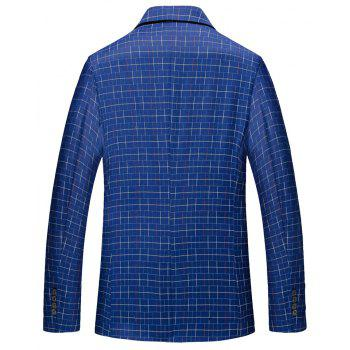 Men's Long Sleeved Suit Coat - BLUE XL