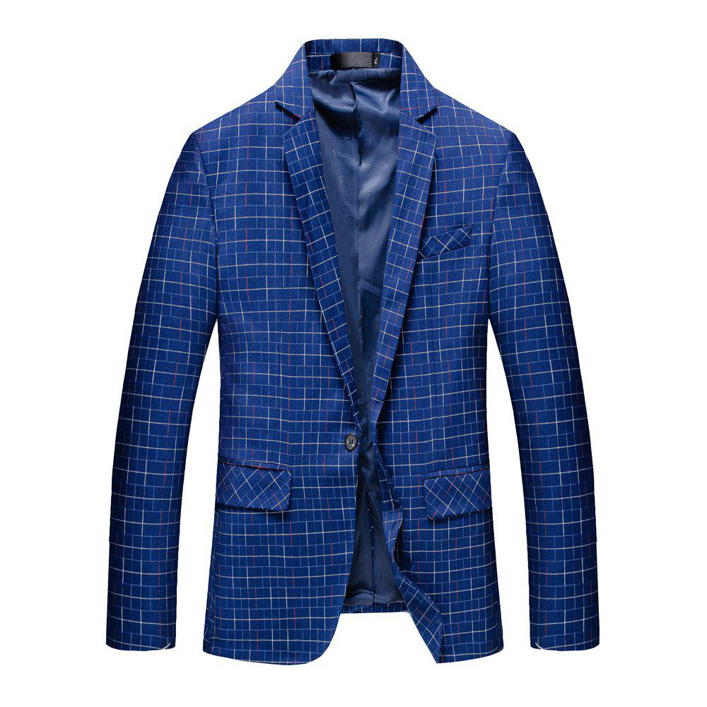 Men's Long Sleeved Suit Coat - BLUE M