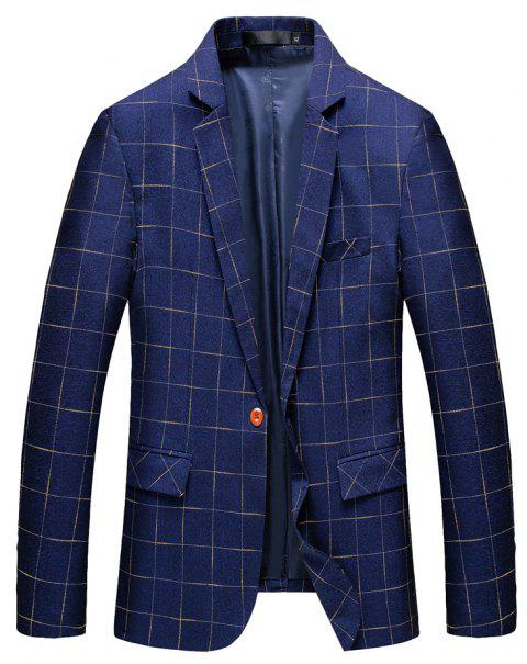 Men's Comfortable and Long Sleeved Suit - BLUE M