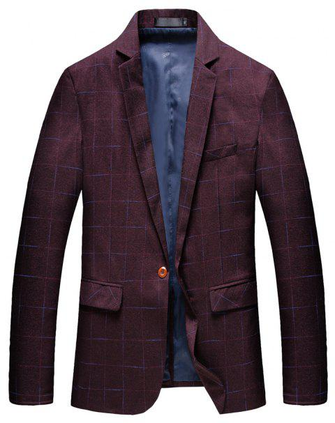 Men's Comfortable and Long Sleeved Suit - RED 3XL