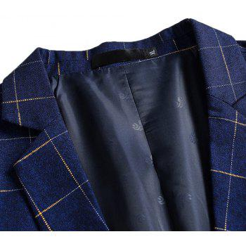 Men's Comfortable and Long Sleeved Suit - BLUE 2XL