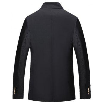 Men's Casual Long Sleeved Suit - BLACK 3XL