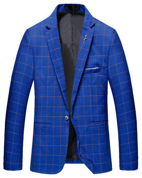 Men's Casual and Handsome Long Sleeved Suit - BLUE XL