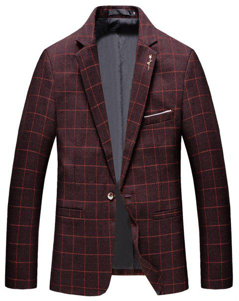 Men's Casual and Handsome Long Sleeved Suit - RED XL