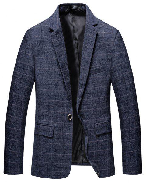 Men's Lattices and Long Sleeved Suits - BLUE 3XL