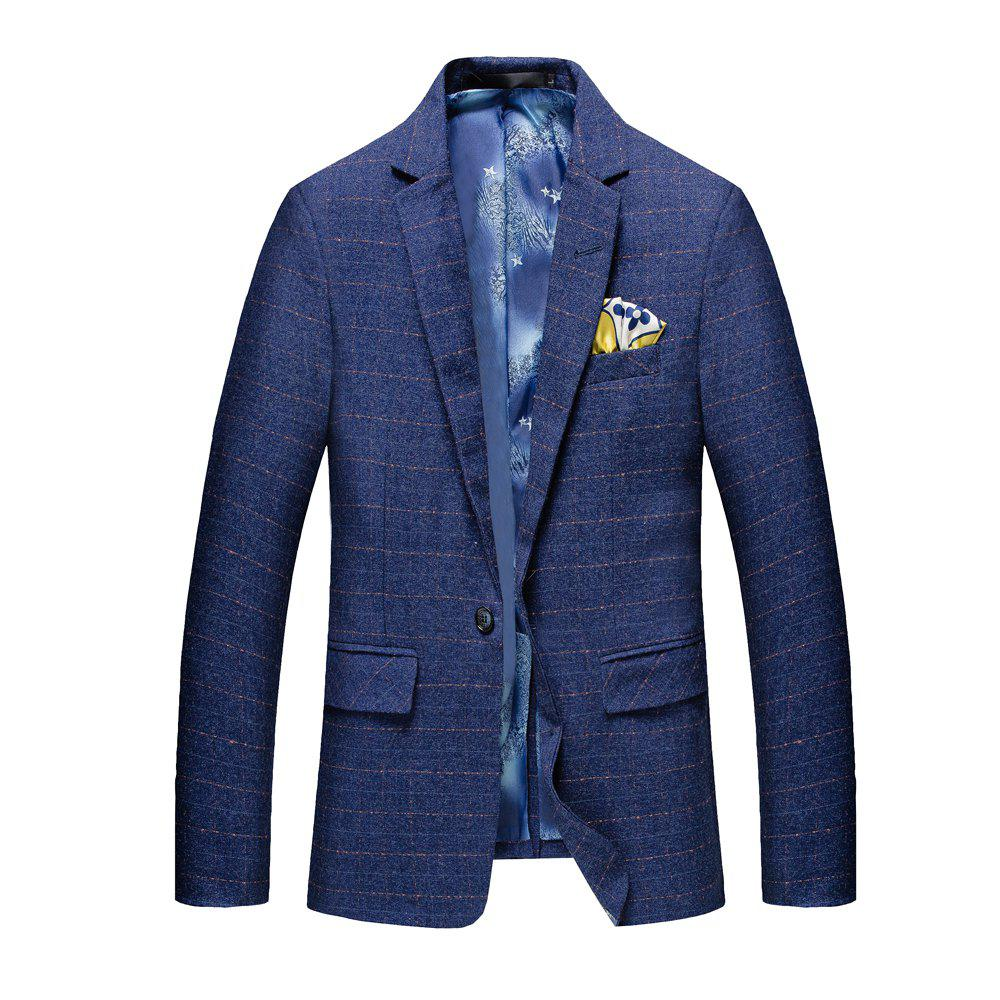 Men's Leisure Long Sleeved Suit - BLUE L