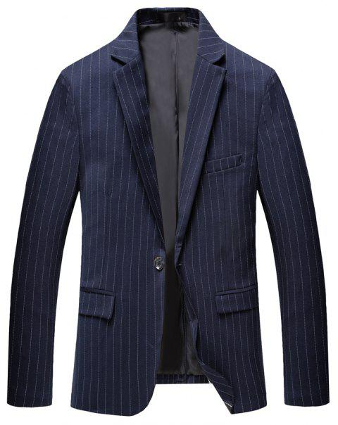 Men's Long Sleeved Jacket Suit - DARK SLATE BLUE M