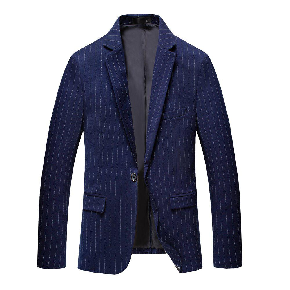 Men's Long Sleeved Jacket Suit - BLUE XL