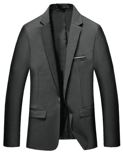 Man's Pure Color Long Sleeved Suit - GRAY L