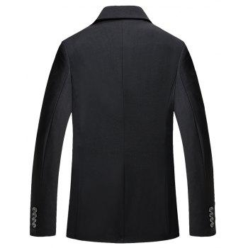 Man's Pure Color Long Sleeved Suit - BLACK 3XL