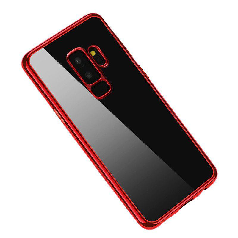 Cover Case for Samsung Galaxy S9 Plus Coque Funda Plating TPU - RED