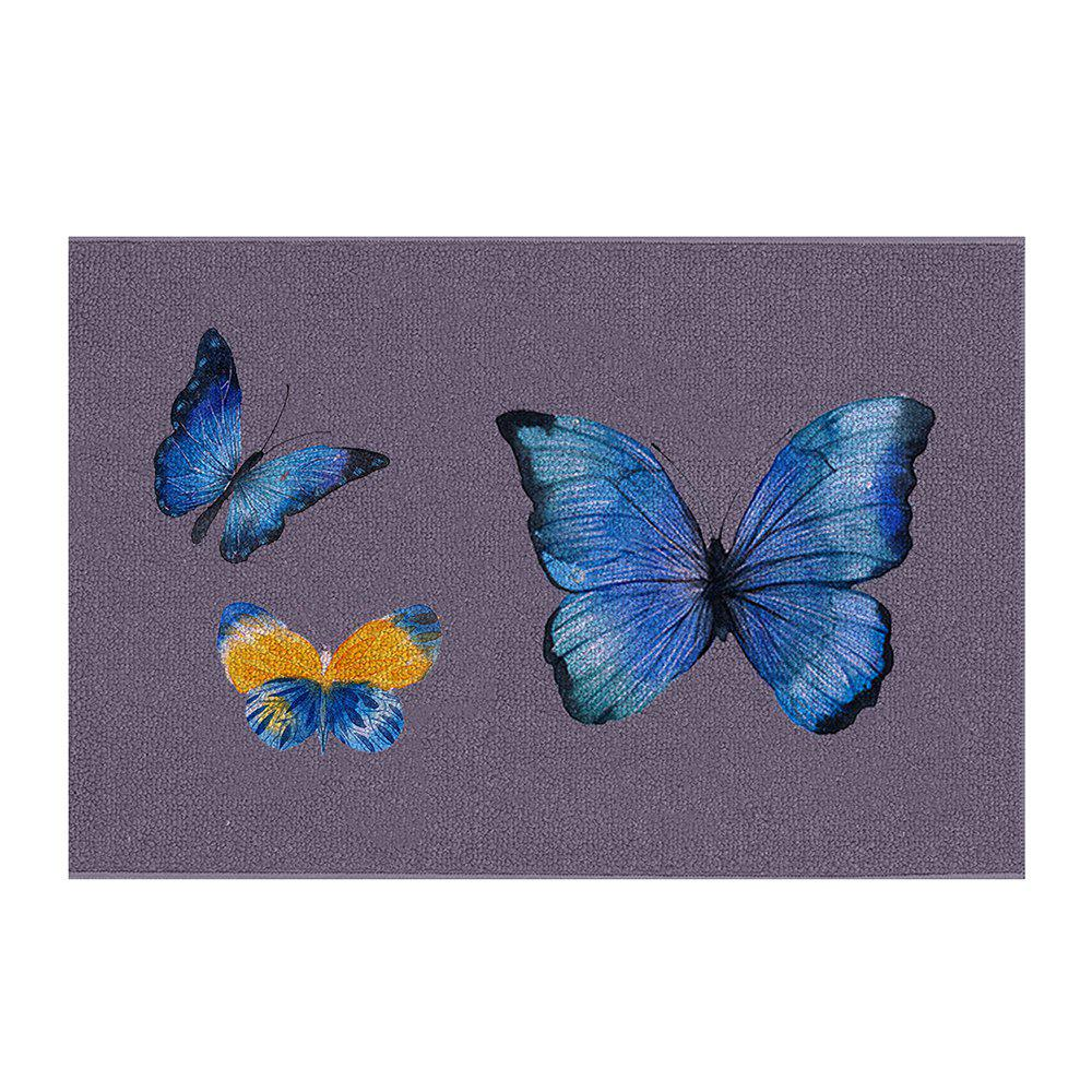 Indoor Outdoor Soft Carpet Home Entrance Big Butterfly Family  Doormat - multicolor 40CM*60CM