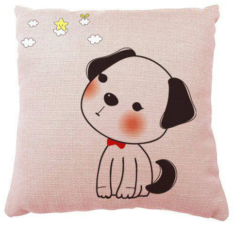 Hand Painted Puppy Home Pillowcase Home adornment Sofa Bedroom Cushion - multicolor 16INCH X16INCH