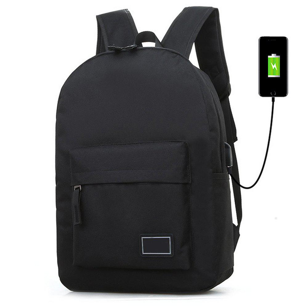 Canvas Travelling  Student  Large Capacity Bag - BLACK