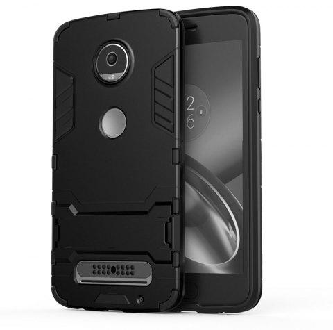 Armor Case for Motorola Moto Z2 Play Silicon Back Shockproof Protection Cover - BLACK