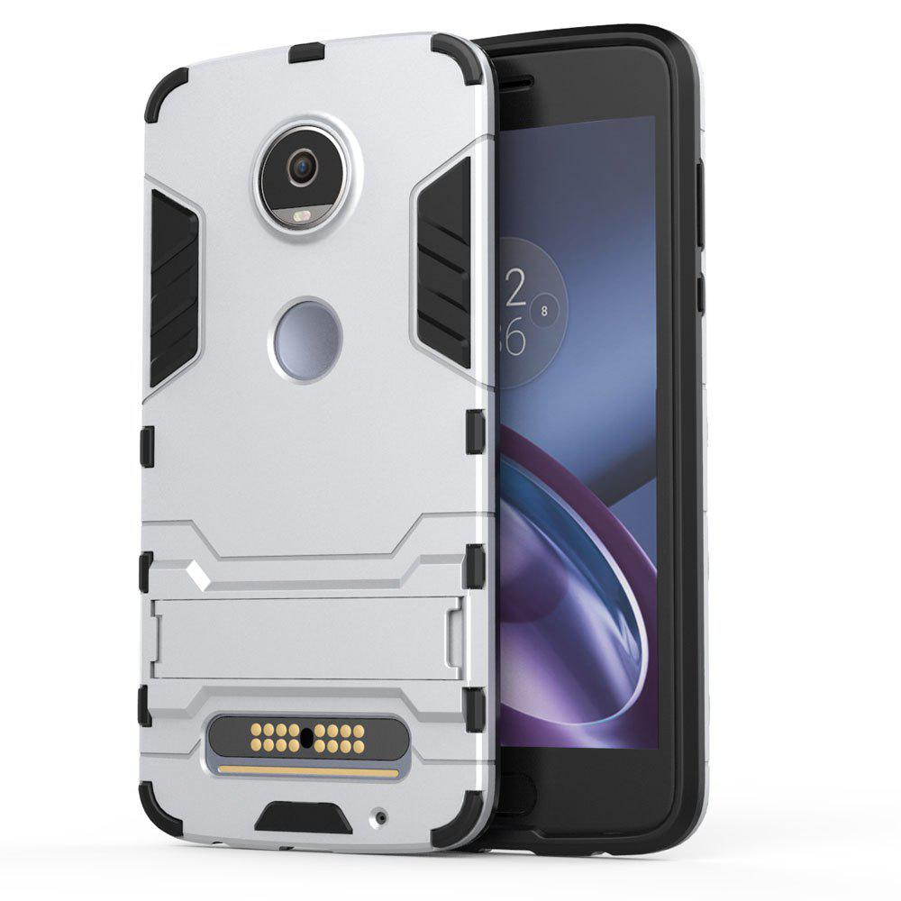 Armor Case for Motorola Moto Z2 Play Silicon Back Shockproof Protection Cover - SILVER