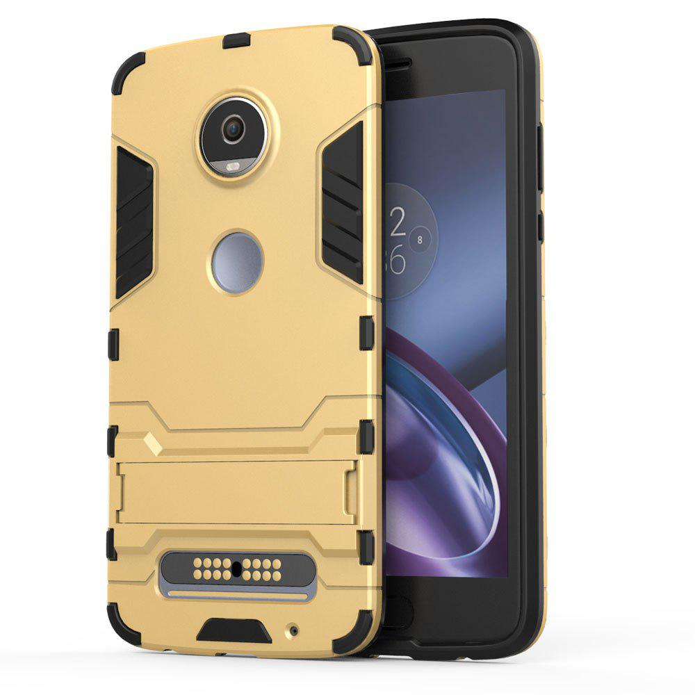 Armour Case pour Motorola Moto Z2 Jouer Silicon Back Housse de protection antichoc - Or