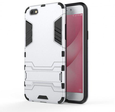 Armor Case for OPPO A77 Silicon Back Shockproof Protection Cover - SILVER
