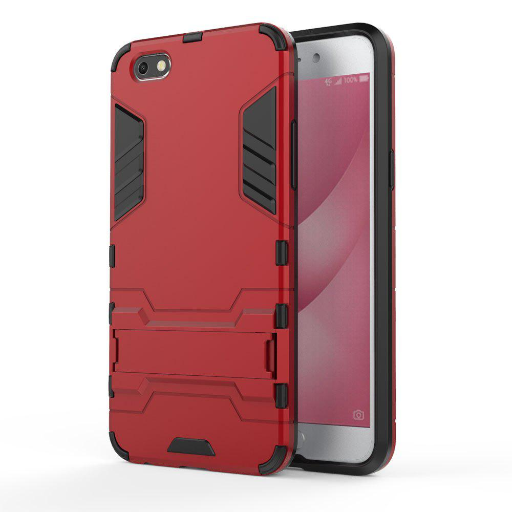 Armor Case for OPPO A77 Silicon Back Shockproof Protection Cover - RED