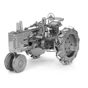 Creative Tractor 3D Metal High-quality DIY Laser Cut Puzzles Jigsaw Model Toy - SILVER