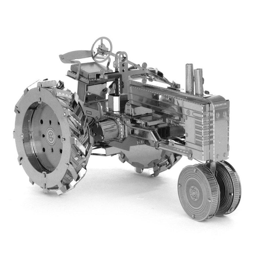 Creative Tractor 3D Metal High-quality DIY Laser Cut Puzzles Jigsaw Model Toy creative wright aircraft 3d metal high quality diy laser cut puzzles jigsaw model toy