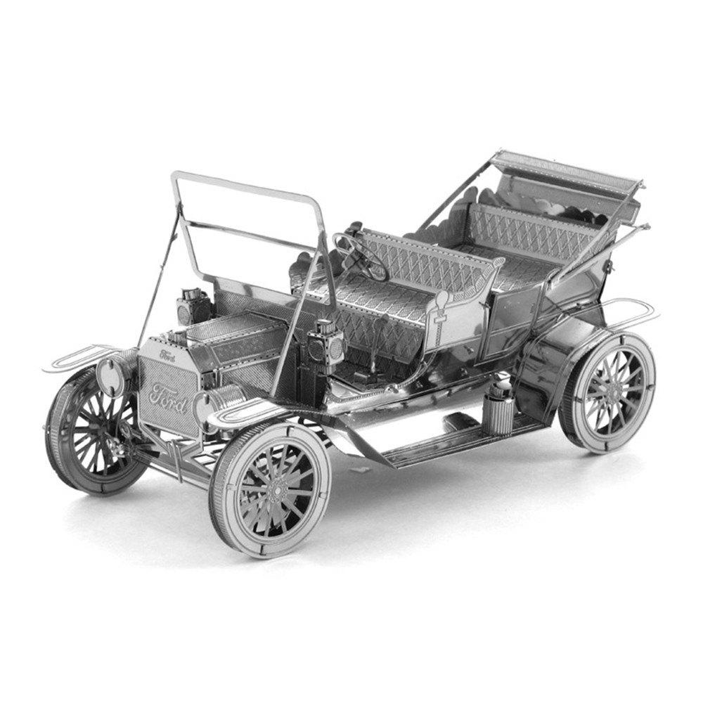 Creative Ford Car 3D Metal High-quality DIY Laser Cut Puzzles Jigsaw Model Toy - SILVER