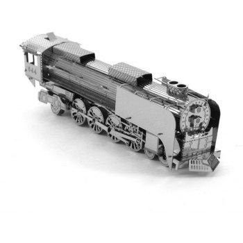 Creative 844 Locomotive 3D Metal High-quality DIY Laser Cut Puzzles Jigsaw Model Toy - SILVER