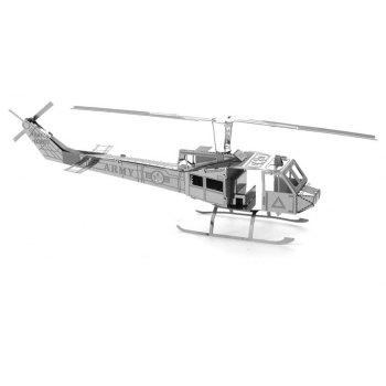 Creative Helicopter 3D Metal High-quality DIY Laser Cut Puzzles Jigsaw Model Toy - SILVER