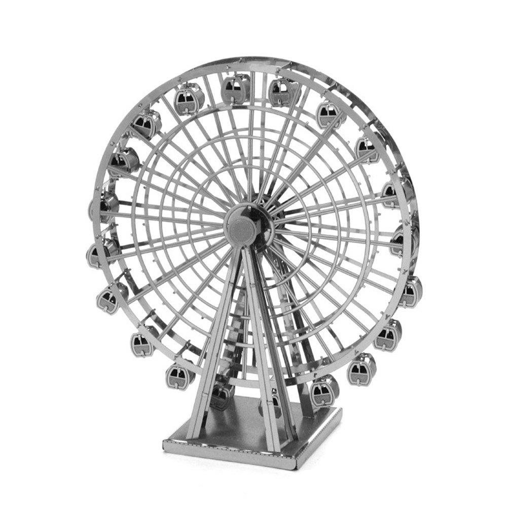 Creative Ferris Wheel 3D Metal High-quality DIY Laser Cut Puzzles Jigsaw Model Toy - SILVER